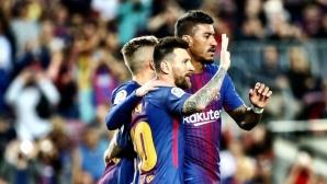 """Меси-шоу зарадва """"Камп Ноу"""", 4 гола на Лео за петата поредна победа (видео)"""