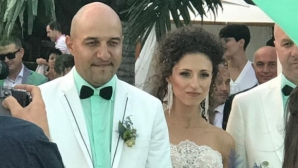 Румънеца се ожени за бивша гимнастичка (снимки)