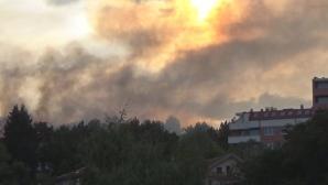 """Избухна голям пожар около стадион """"Берое"""" преди шоуто на Стоичков (видео+снимки)"""