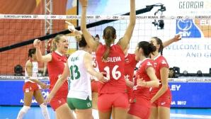 България с ценна победа над Турция и продължава напред на Евроволей 2017!
