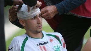 Играч на Вихрен счупи главата на капитана на Хебър с каратистки скок (видео)