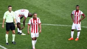 Шокираща загуба за Олимпиакос, АЕК също се провали (видео)
