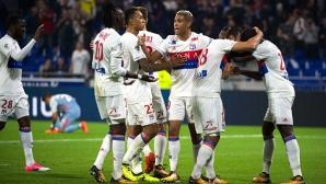 Гол в последната секунда реши дербито между Лион и Монако (видео)