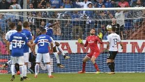 Сампдория подчини Аталанта с три гола за едно полувреме (видео)