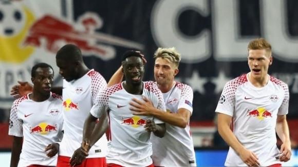 Лайпциг празнува първа победа в Шампионската лига (видео+галерия)