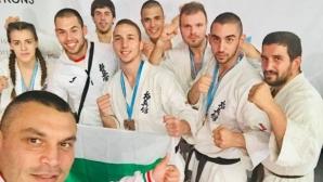 4 титли и общо 13 медала за каратеките ни от Европейското по киокушин