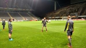 Лудогорец проведе официално занимание на стадиона на Брага