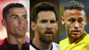 "Роналдо, Меси и Неймар са кандидатите за приза ""Футболист на годината"" на ФИФА"