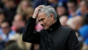 Моуриньо за първи път беснял в съблекалнята на Юнайтед след загубата от Хъдърсфийлд
