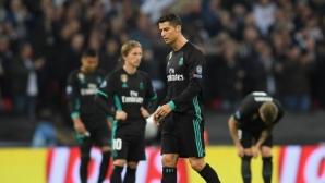 Реал Мадрид отнесе шамари и в ШЛ, Тотнъм разкъса мантията на краля (видео+галерия)