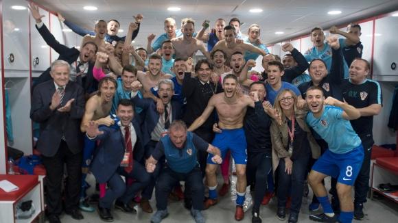 Хърватите отвориха шампанското в съблекалнята