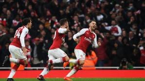 Съставите на Арсенал и Тотнъм (гледайте тук)