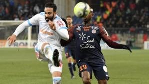 Спорна дузпа носи равенство на Олимпик Марсилия срещу Монпелие