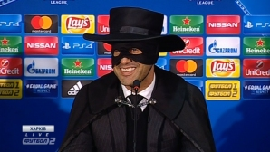 Треньорът на Шахтьор се облече като Зоро