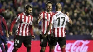 Атлетик Билбао с първа победа в Ла Лига от два месеца насам (видео)