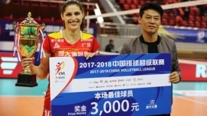 Ева Янева с 16 точки за 3-а поредна победа на Гуанджоу в Китай