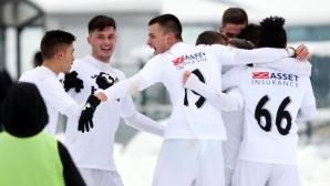 """""""Бялата Коледа"""" продължи и в Търново: С две дузпи, едната съдийски подарък, Славия е на 1/2-финал за Купата (видео)"""