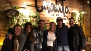 Лео и Антонела посетиха ресторанта на Луис Суарес