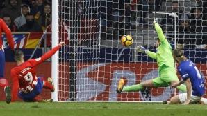 Атлетико се възползва от грешката на Валенсия (видео)