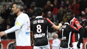 Балотели изстреля Ница към четвъртата поредна победа (видео)