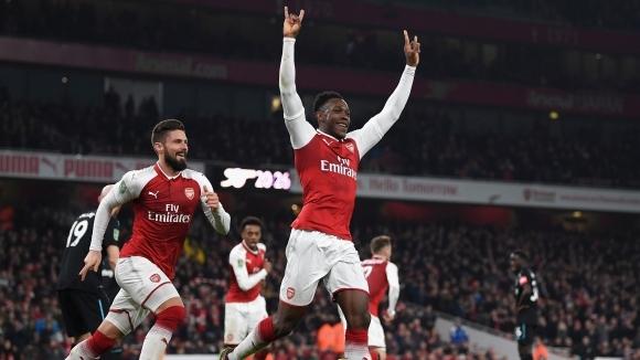 Уелбек прати Арсенал на полуфинал след скучно лондонско дерби