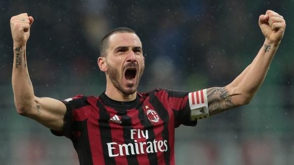 Куриозен гол на Бонучи зарадва Милан