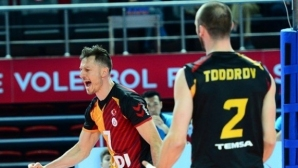 Теодор Тодоров с 13 точки (5 блока) за победа на Галатасарй срещу Фенербахче