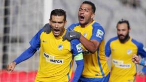 АПОЕЛ превзе върха в Кипър, Миланов отново не игра