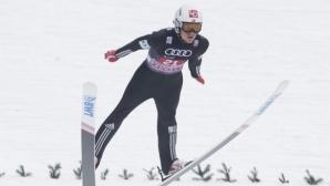 Даниел Андре Танде води след първия ден на СП по ски полети