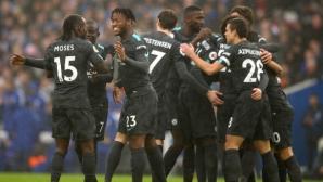Челси надигра Брайтън в началото и в края и си върна третото място поне за два дни (видео)