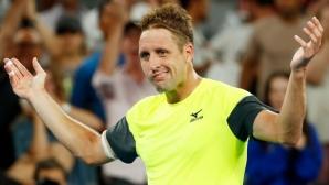 Тенис Сандгрен гледал да пести енергия за дългия мач с Тийм