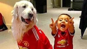 Кучетата на Алексис Санчес също облякоха фланелката на Юнайтед (СНИМКИ)