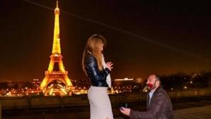 "Бетина Темелкова каза ""да"" на фона на Айфеловата кула"