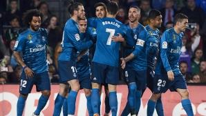 Реал Мадрид страда, но спечели в шоу с осем гола в Севиля (видео + галерия)