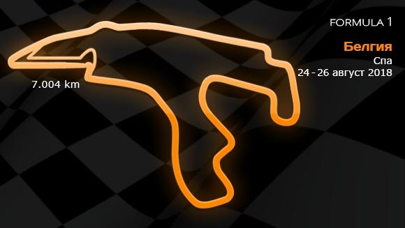 13 кръг: Гран При на Белгия 24-26 август 2018