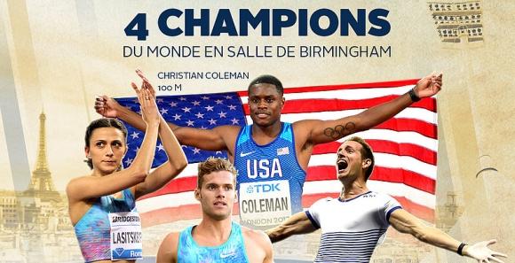 Четирима световни шампиони от Бирмингам сигурни за Диамантената лига в Париж