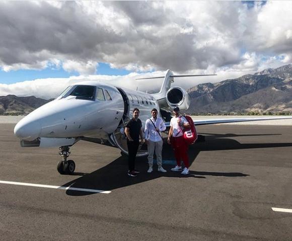 Григор пристигна в Маями с частен самолет