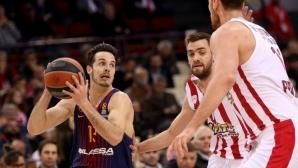 Барселона спечели категорично срещу Олимпиакос, Везенков извън състава