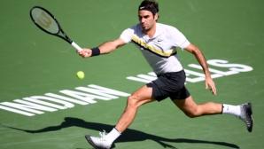 Федерер на прага на най-силния старт в кариерата си