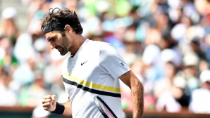 Много тежък мач, но Федерер  се пребори за рекордна победа (видео)