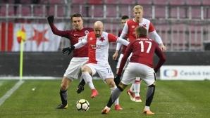 Автогол, дузпа в последната минута и обрат от 0:3 в дербито на Прага (видео + галерия)