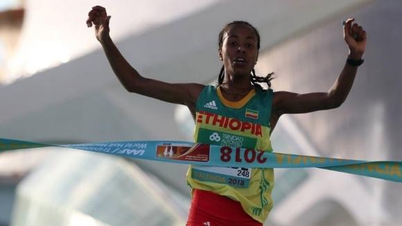 Етиопка постави нов световен рекорд в полумаратона