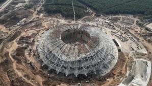 Стадионът в Самара изостава от графика за Световното
