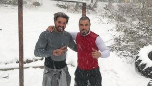 Благо Георгиев тренира в снега с ММА боец (видео)