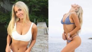 Близначката на Южени Бушар показа тяло трепач (видео + галерия)