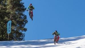 Адреналин и снежни емоции в Пампорово през уикенда с Winter Bike Duel