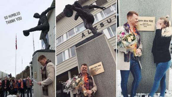 Откриха паметник на бивш играч на Ливърпул