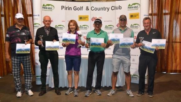 Пламен и Бойка Мицански обраха наградите по време на 6-ото издание на турнира Престиж Бизнес 93 и Екохимпром Голф Къп в Пирин голф и кънтри клуб