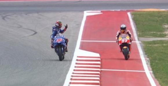 Наказаха Маркес с три места заради блокирането на Винялес, тръгва пред Роси