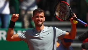 Григор отново се справи с Гофен и е на полуфиналите в Монте Карло (видео)